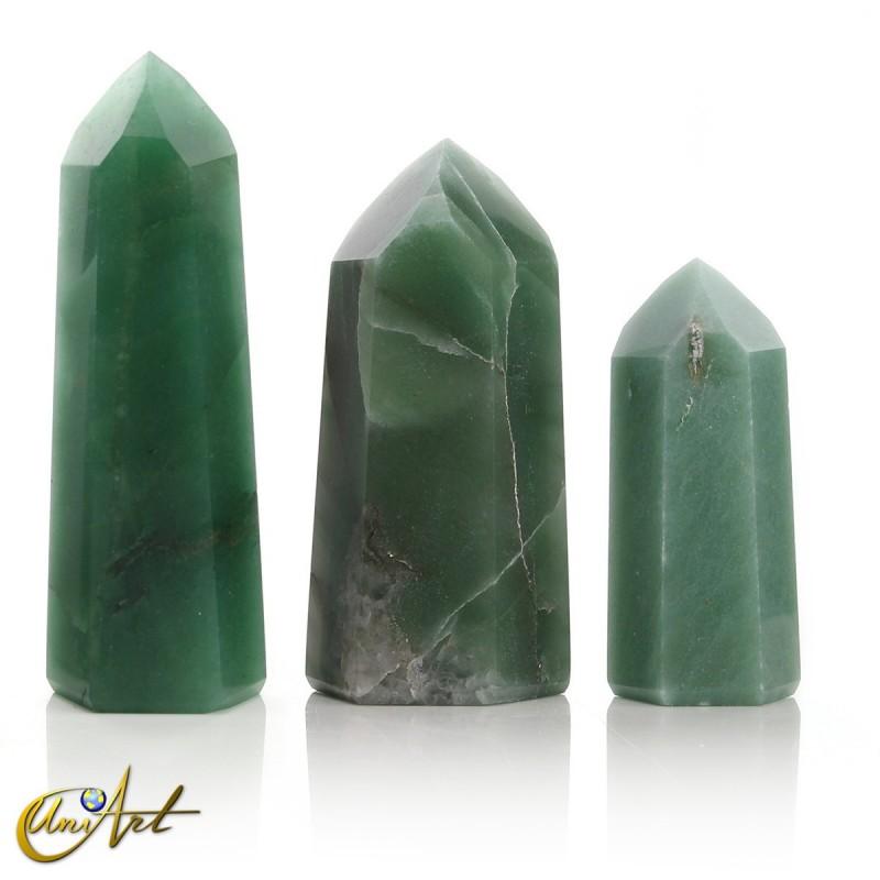 Puntas de cuarzo verde