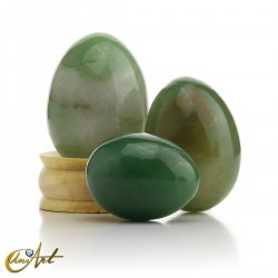 Huevos de cuarzo verde