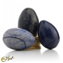 Huevos de cuarzo azul