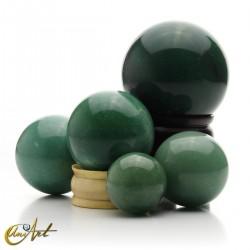 Green quartz spheres