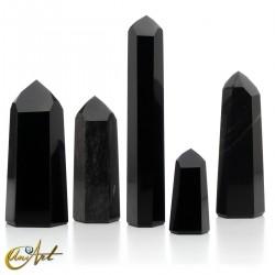 Puntas de obsidiana negra