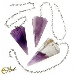 Reiki and dowsing pendulum amethyst