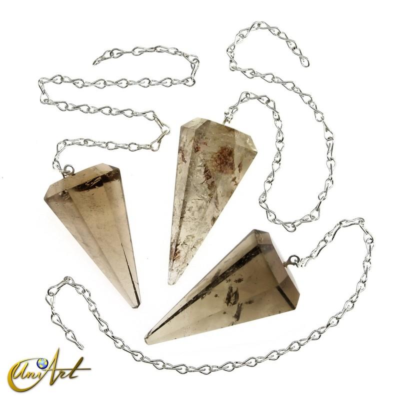 Reiki and dowsing pendulum smoky quartz