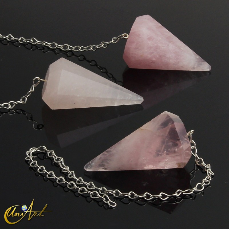 Reiki and dowsing pendulum rose quartz