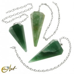 Péndulo para Reiki y Radiestesia de cuarzo verde