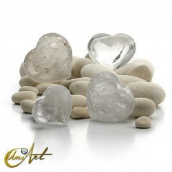 Corazón de cuarzo cristal