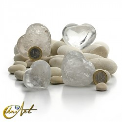 Crystal quartz heart