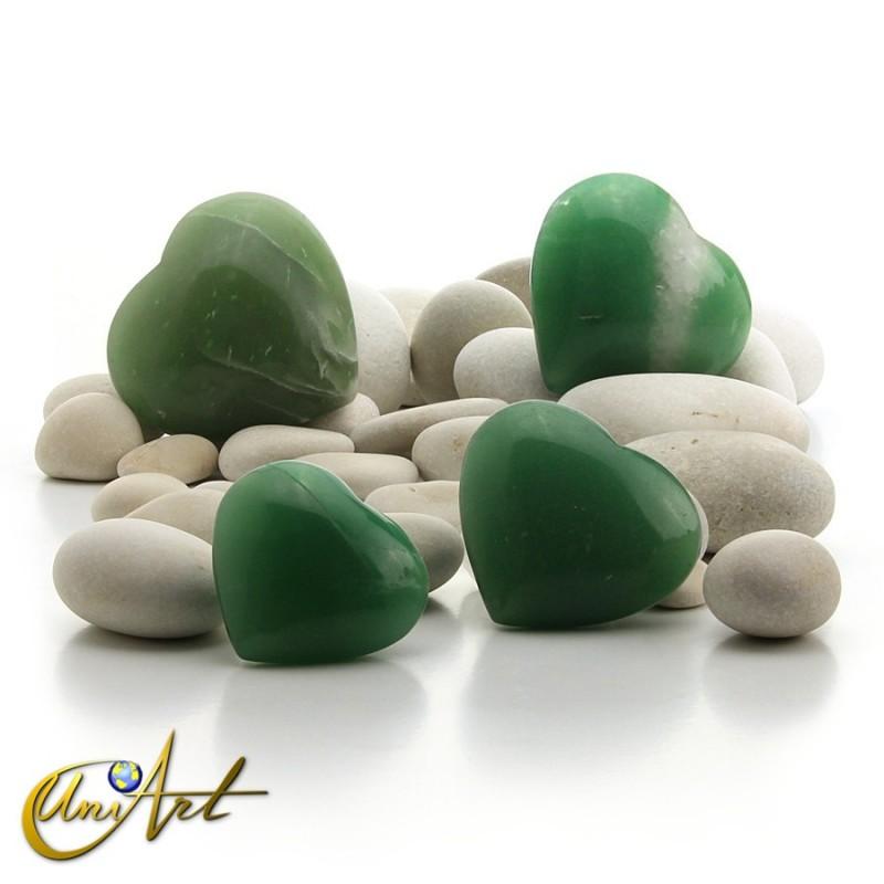 Corazón de cuarzo verde