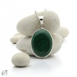 Gothic malachite and sterling silver pendants - model 1
