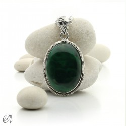 Gothic malachite and sterling silver pendants - model 5