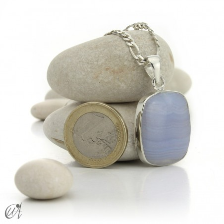 Chalcedony and silver - model 1