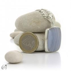 Chalcedony and silver - model 2
