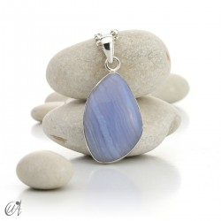 Chalcedony pendant in sterling silver