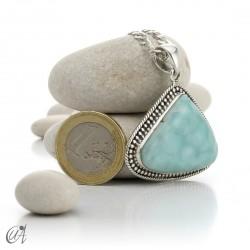 Vintage sterling silver - larimar pendant - model 2