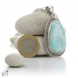 Vintage sterling silver - larimar pendant - model 4