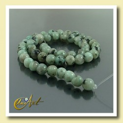 8 mm Round Beads of Blue African Jasper