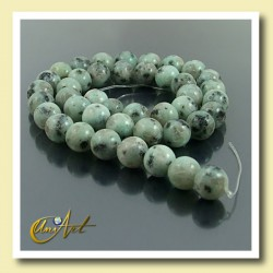 10 mm Round Beads of Blue African Jasper