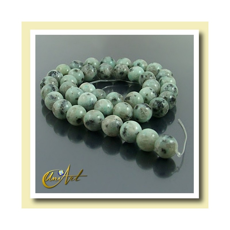 10 mm Round Beads of Blue African Jasper