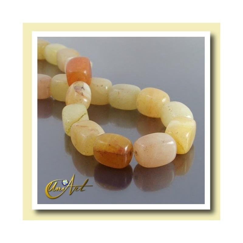 Yellow Jade Beads Quadrangule shape