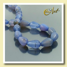 Blue Agate beads in tear shape 13x8mm