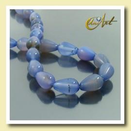 Blue Agate beads in tear shape 13x8mm