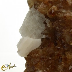 Citrine Druse with large crystals