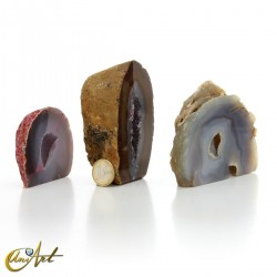 Collection of 3 agate geodes - set  2