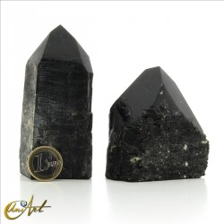 Semi-carved black tourmaline - 250 grams each one.