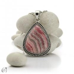 925 Silver rhodochrosite pendant