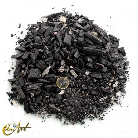 Black tourmaline powder and gravel - 1 kg