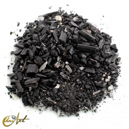 Polvo y grava de turmalina negra - 1 kg