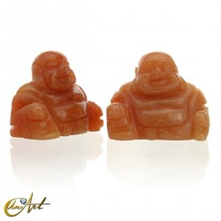 Buda Feliz en aventurina naranja
