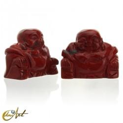 Buda Feliz en jaspe rojo