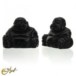 Buda Feliz en obsidiana negra