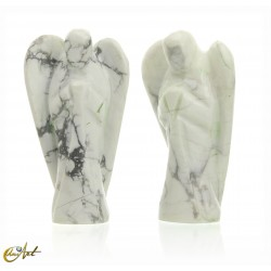Angel carved in white howlite