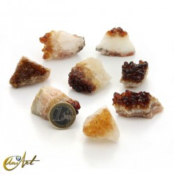 200 grams of citrine druze, small pieces