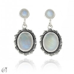 Sterling silver and moonstone earrings, Maktub
