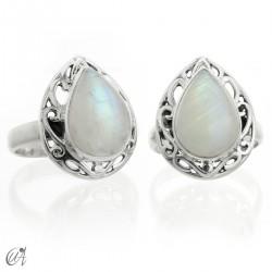 Moonstone - Lahab model silver ring