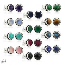 Silver and gemstones - Phebe mini earrings
