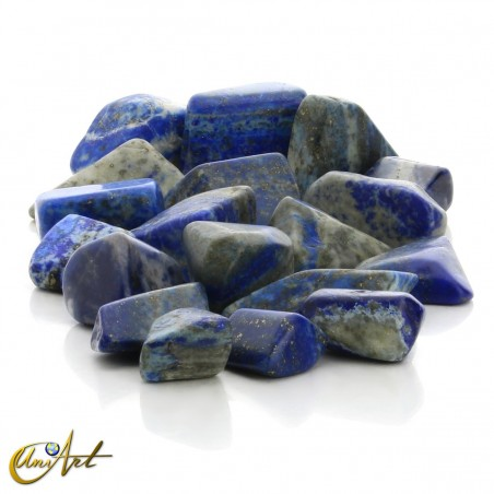 Lapis lazuli tumbled stones in packet of 200 grs