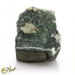Apophyllite druse on basalt
