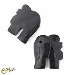 Elefante para incrustar con 3 huecos - obsidiana