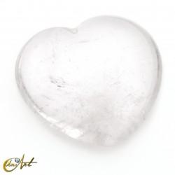 Small heart of mixed stones -  crystal quartz
