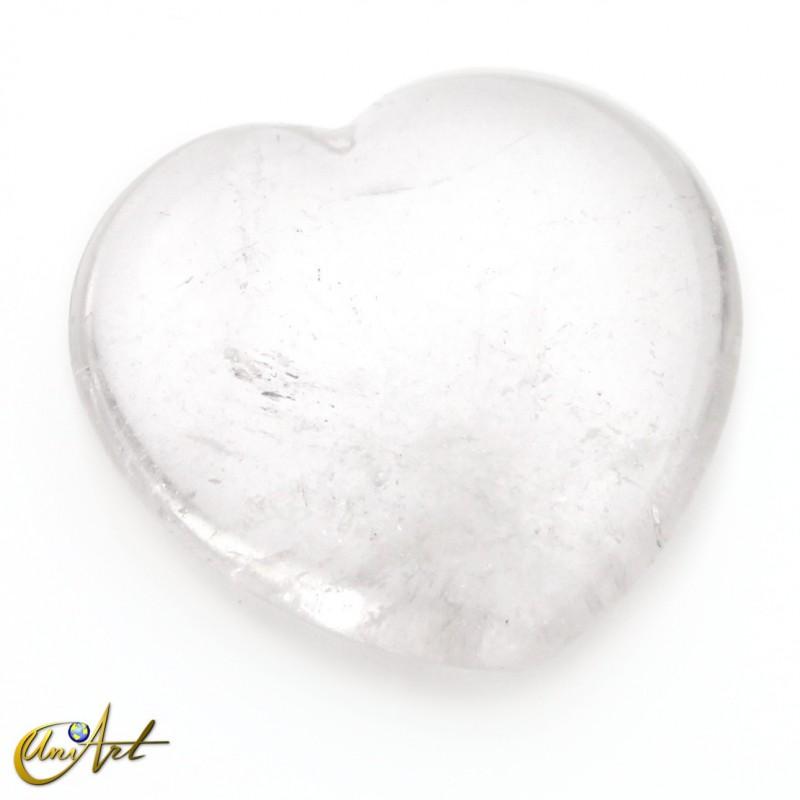 Corazón pequeño de piedras variadas - cuarzo cristal