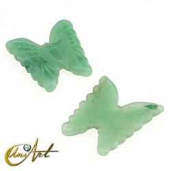 Mariposa en piedra semipreciosa - aventurina verde
