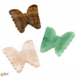 Butterfly of semi-precious stone