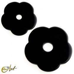 Onyx flower donut