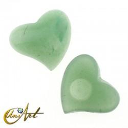 Corazón cabujón de aventurina verde
