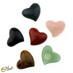 Corazón cabujón de piedras semipreciosas
