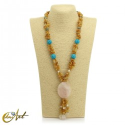 Yellow calcite necklace - model 2